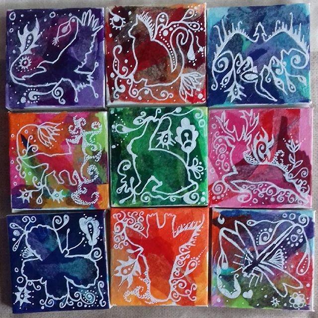 working mini collages lovely fr - bubsiekins | ello