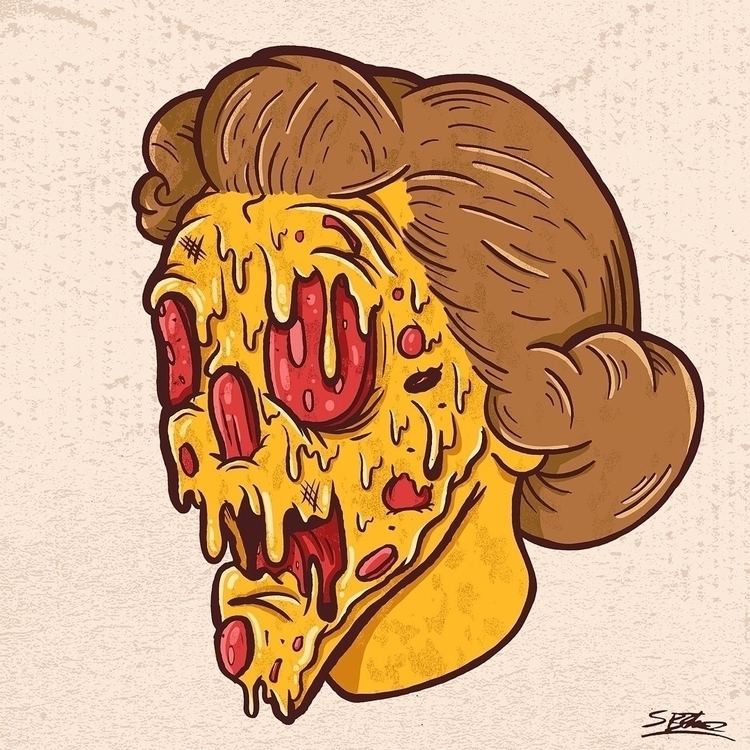 Pizza Head - pizza, cheese, illustration - samuelbthorne   ello