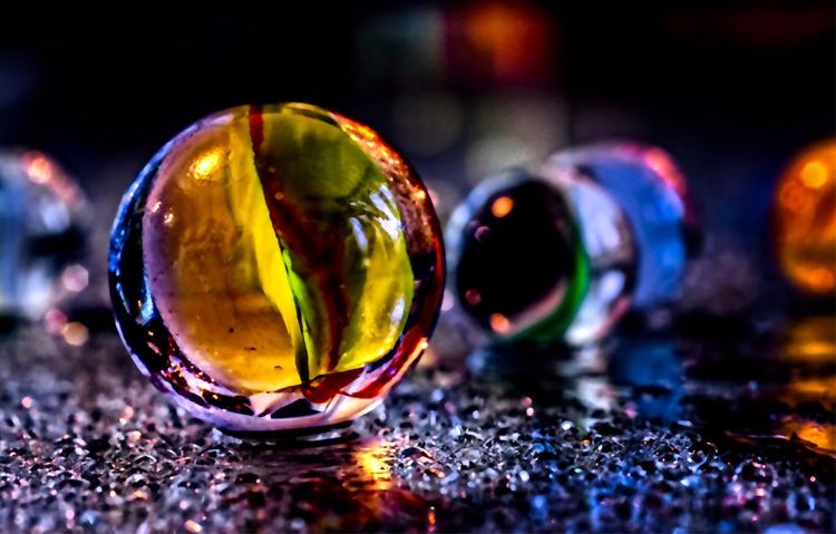 Rainbow Coalition - marbles, water - doc | ello