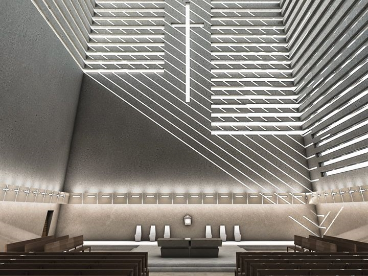 RENDER Church - architecture, madeinitaly - pierluigipacearchitecture | ello