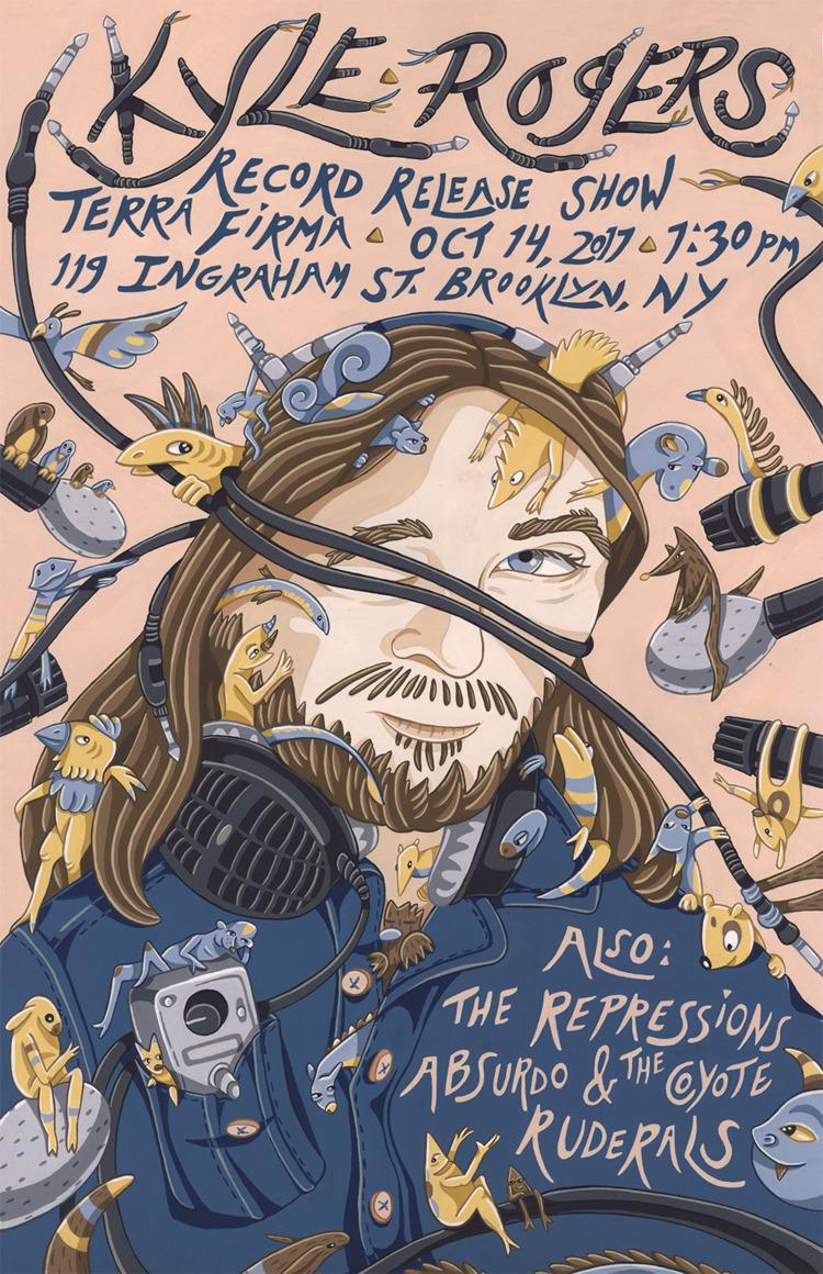 Poster created musician Kyle Ro - sagecotignola | ello