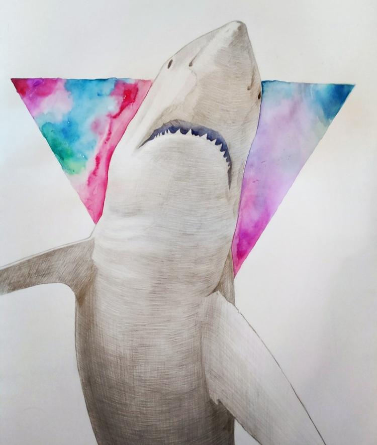 art, watercolor, shark, illustration - sergey_k | ello