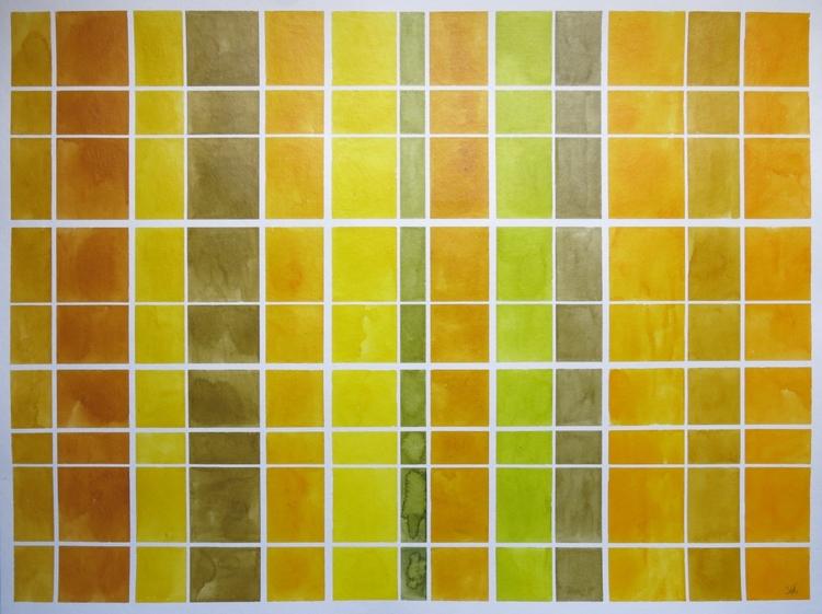 Grid 3 focus geometric painting - carycastro | ello
