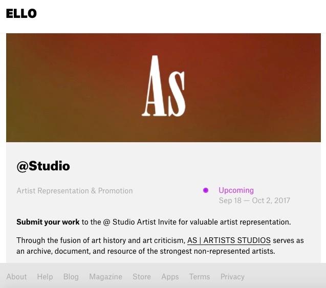 Check - upcoming Artist Invite  - artists_studios | ello