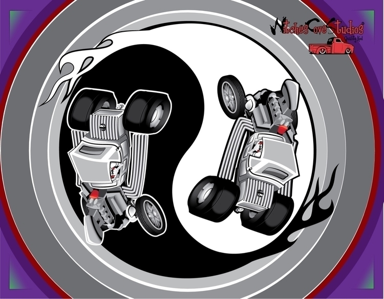 Yin-Yang blown, hemi powered - adobeillustrator - witchescovestudios | ello