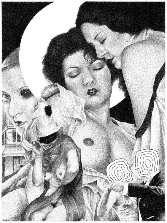 Ecstasy Desire - collage, pen, ink - renzorazzetto | ello