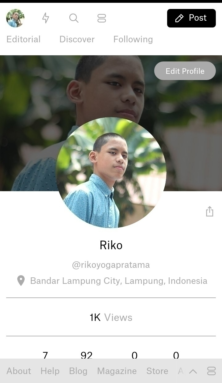 1K view love guys - 1k, greatful - rikoyogapratama | ello
