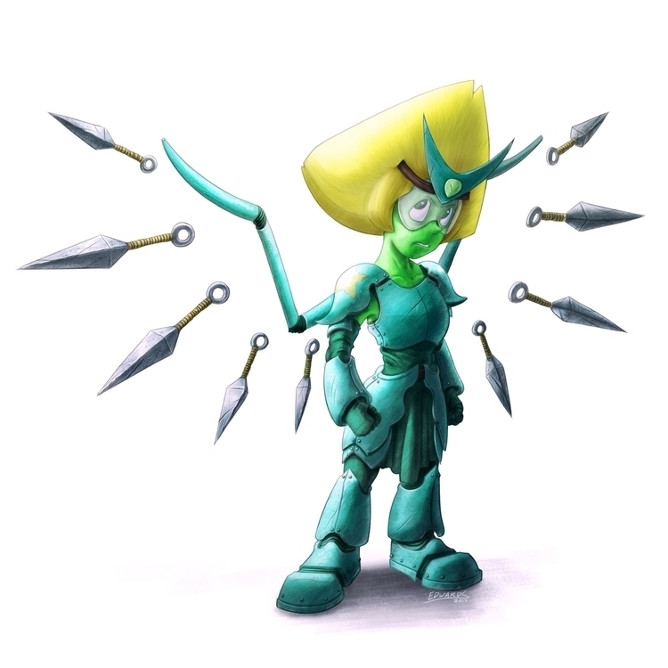 Peridot donning armor missions  - puzzgon | ello
