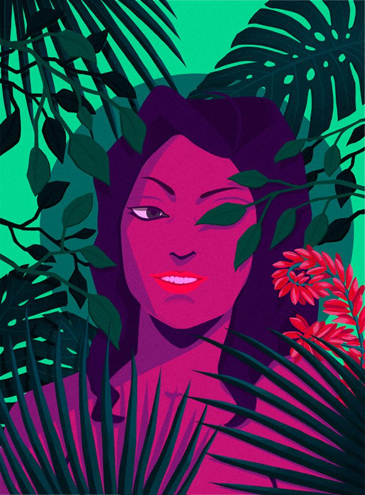Evergreen illustration finished - nelidazubia | ello
