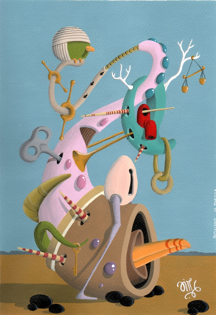 La Justice  - art, surrealism, painting - jimmy-p | ello