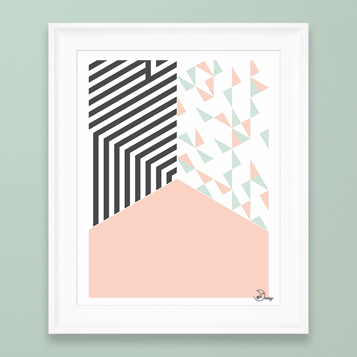 Pink Room Abstract geometric co - designdn | ello