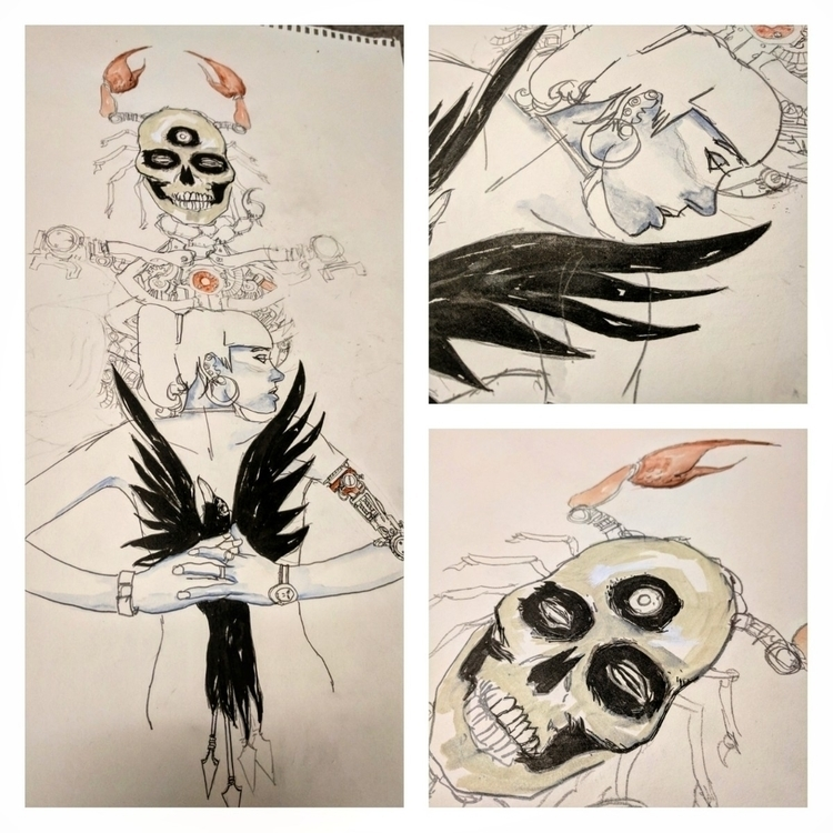 work progress - illustration...#skulls - zeruch   ello