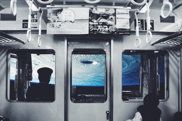 field trip Uranus - space, collageart - arturorafaelenriquez | ello
