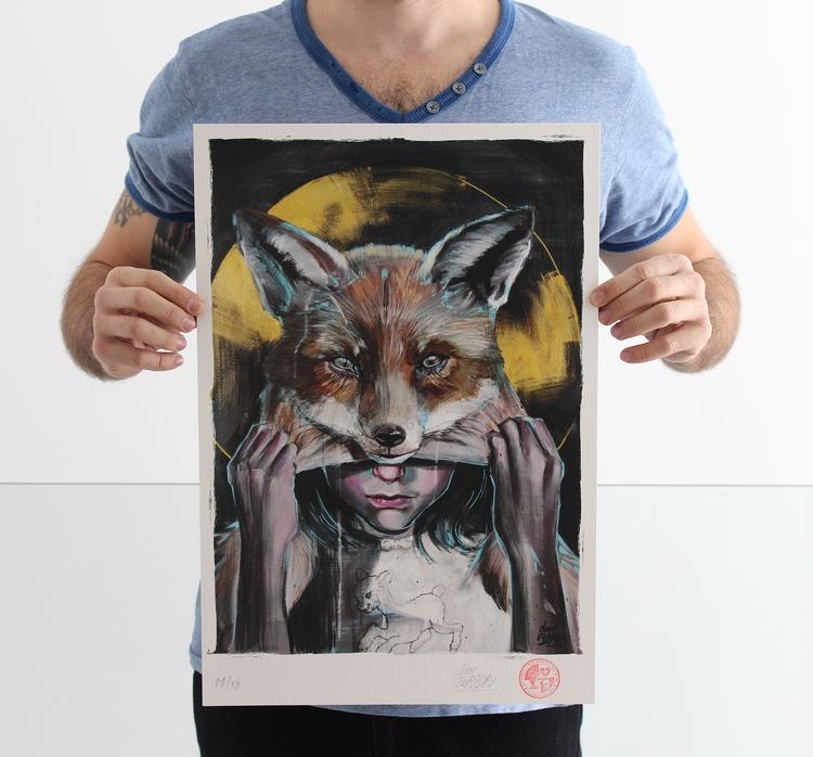 Lamb Fox PRINT copy 33 48 cm.  - danferrer | ello