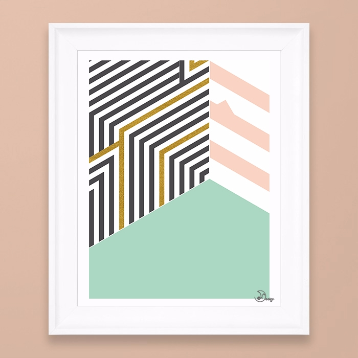 MintGold Room Abstract geometri - designdn | ello