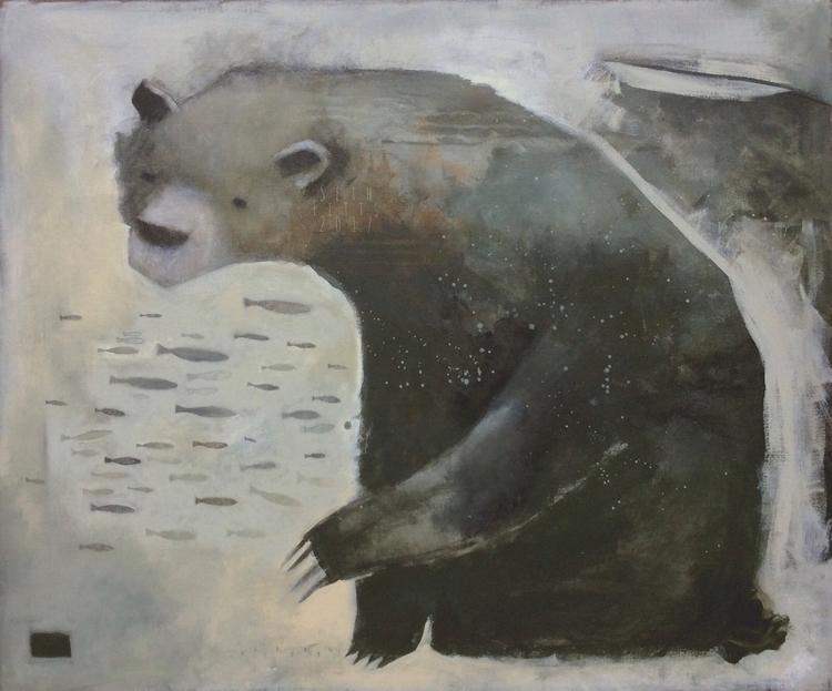 Fish Mixed media canvas. 30 40  - sfitts | ello