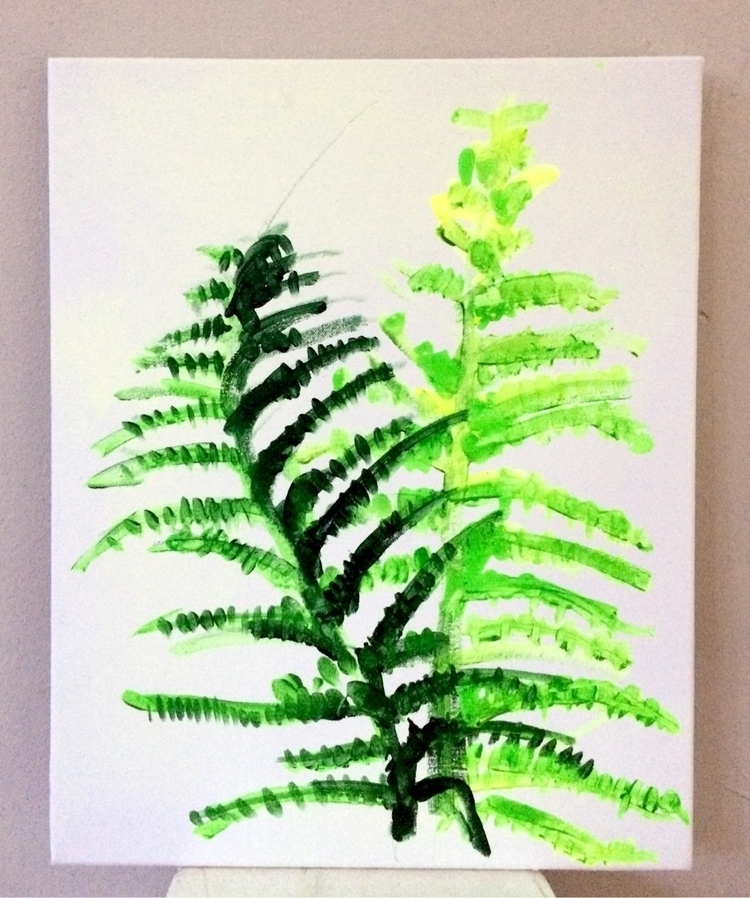 Fern, 2017, acrylic cotton, 60  - julikageissler | ello