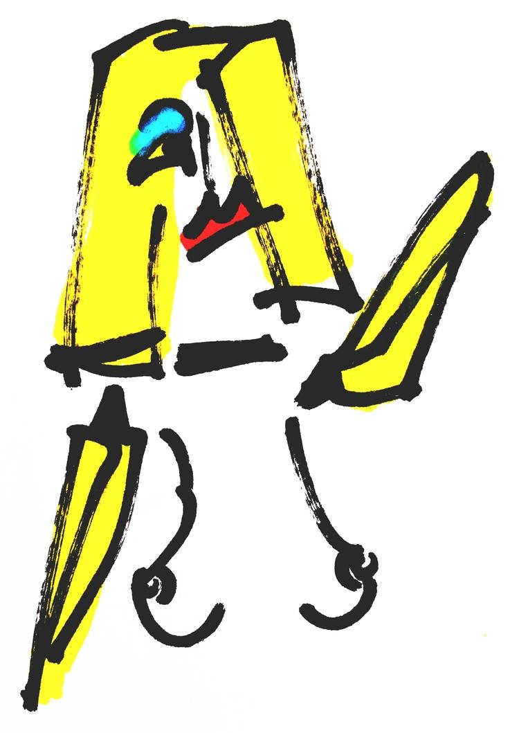 Banana-Arm Woman, Pointing (201 - jkalamarz   ello