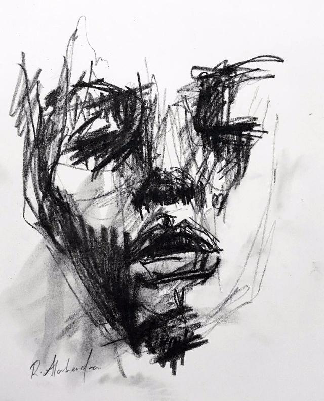 Quick charcoal sketch - art, drawing - alahendra | ello
