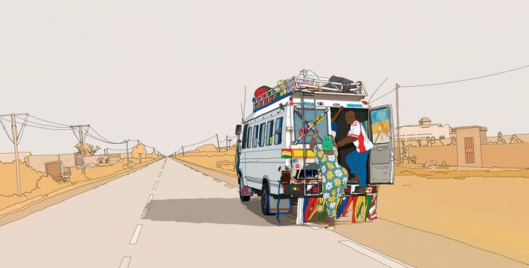 travel book illustrations Seneg - digitalillustrationworks   ello