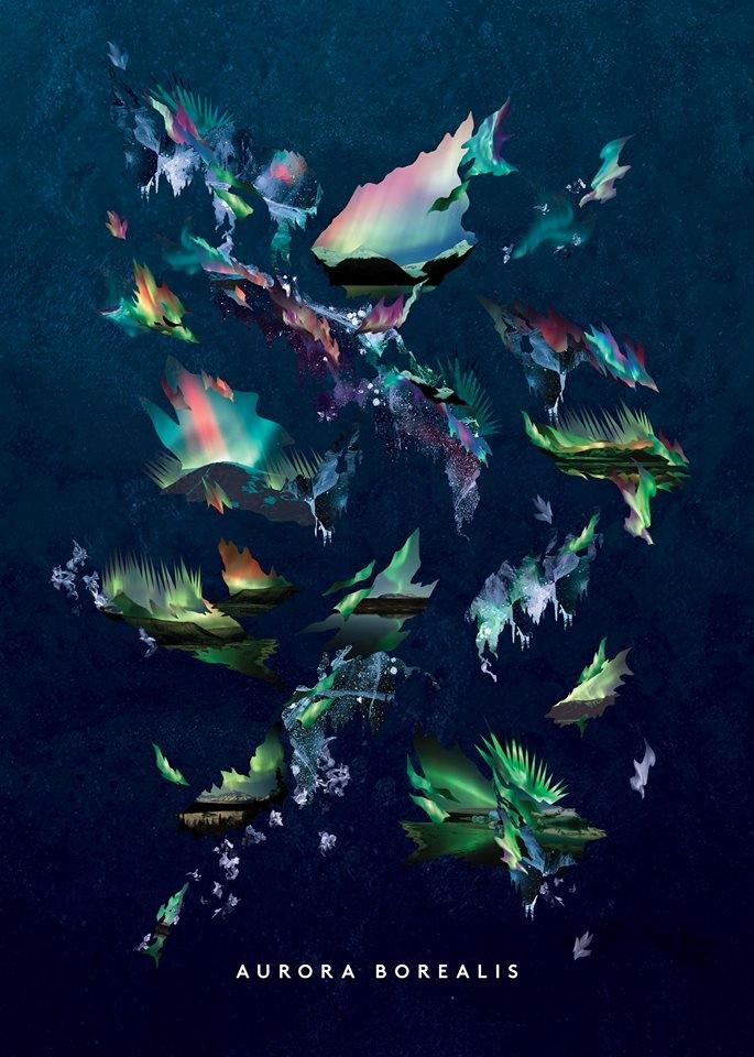 Aurora Borealis, poster design  - elisavendramin | ello