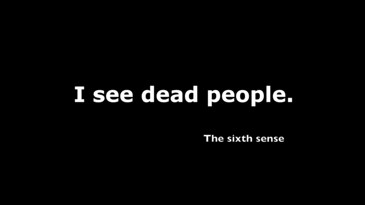sixth sense, quote. design artw - moviemania   ello