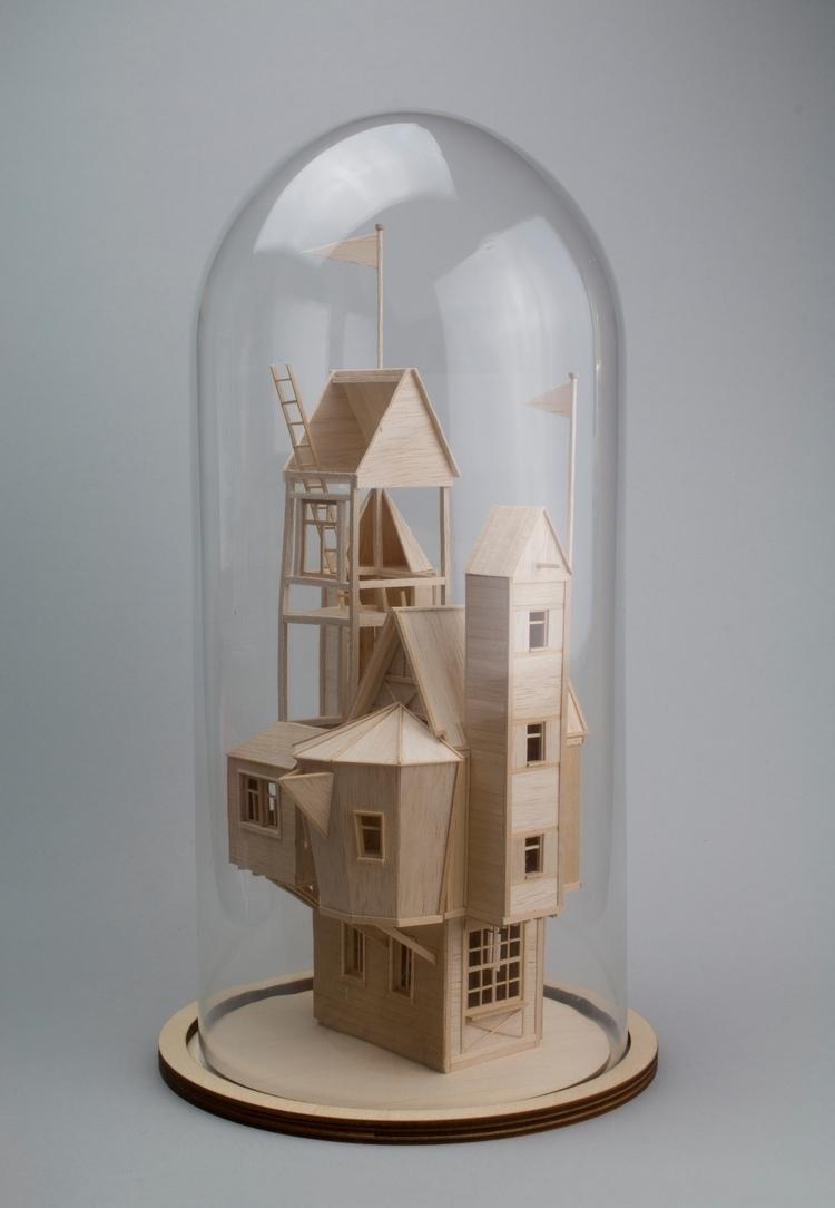 House, miniature sculpture, bal - veravanwolferen   ello