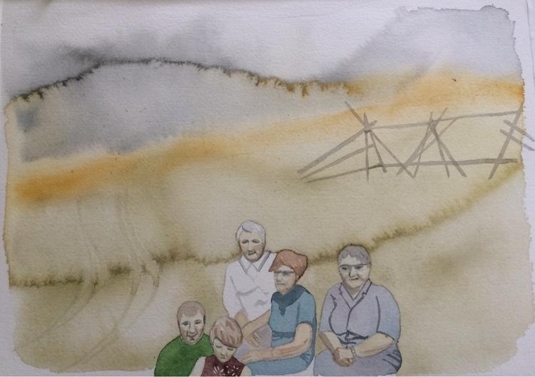 Disposition - watercolor, paper - vasagatan | ello
