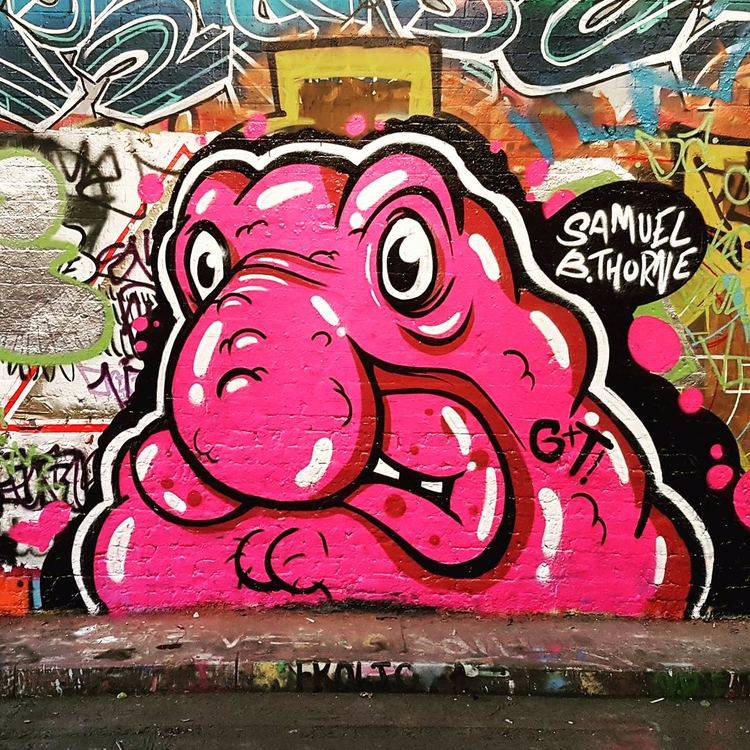painted blob fish dude honour G - samuelbthorne   ello