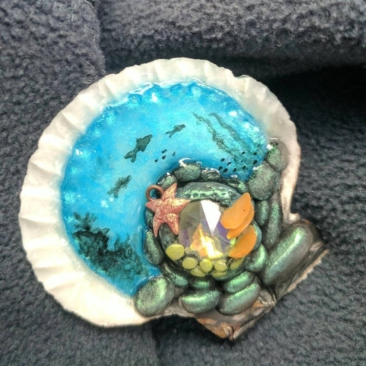 clay shell mermaid portal - clovermoon   ello
