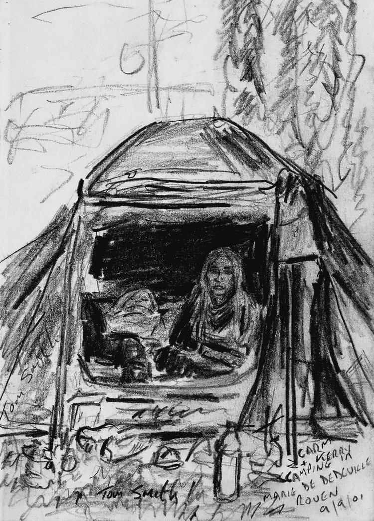 Carmen Kerry tent. Campsite Mar - codfishwabb | ello
