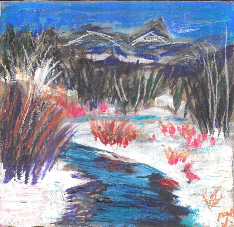 cardinal , Pastel watercolors  - clan_morrison_art | ello