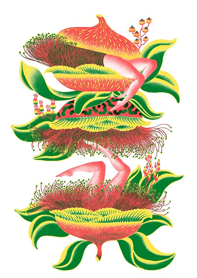 Junglesflowers. Risograph prin - yuhsuan | ello