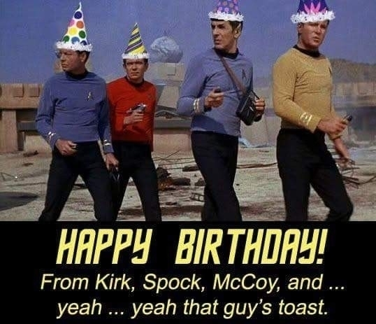 happybirthday, startrek, redshirt - spacemonster | ello