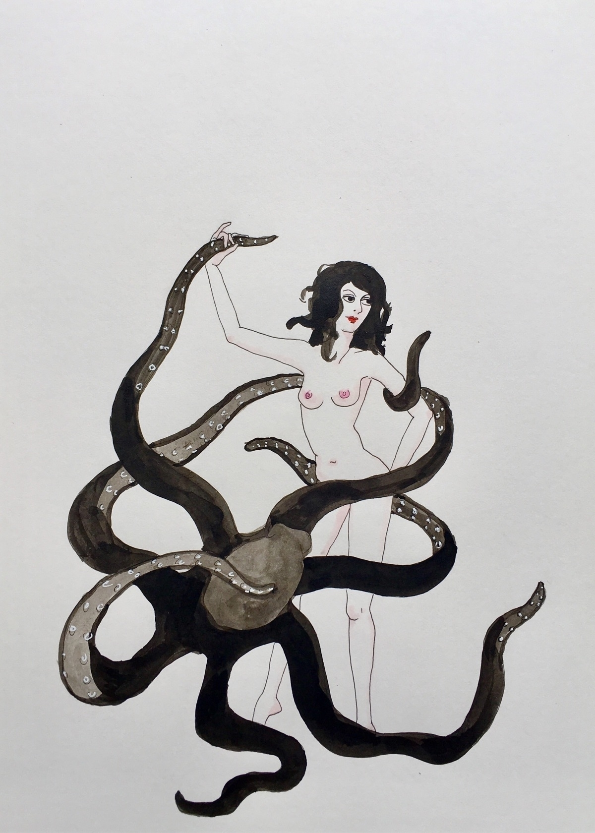 dancing octopus - kunst, drawing - lorettamae | ello