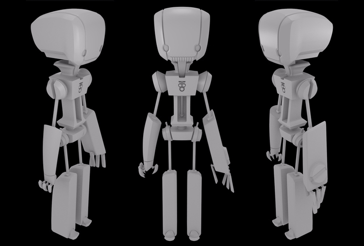 Puppet character 3D modeled Ble - grimapple | ello
