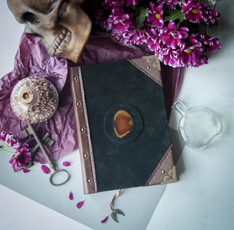 agateslice, skull, handmade, witch - dustyburrow | ello