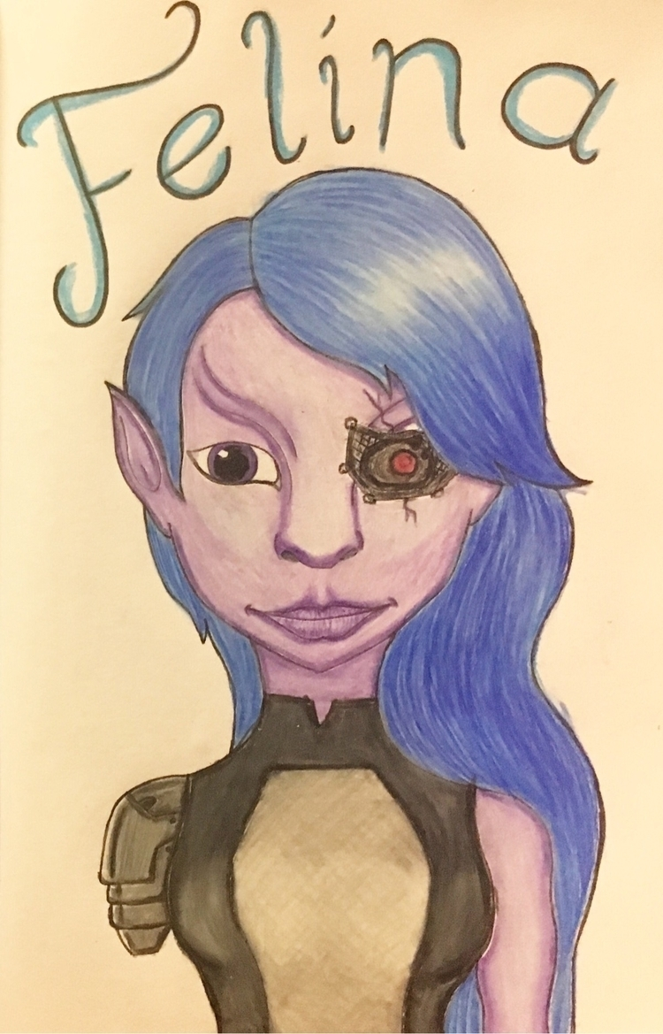 Newbie original character drew  - stephanie_tarbard | ello