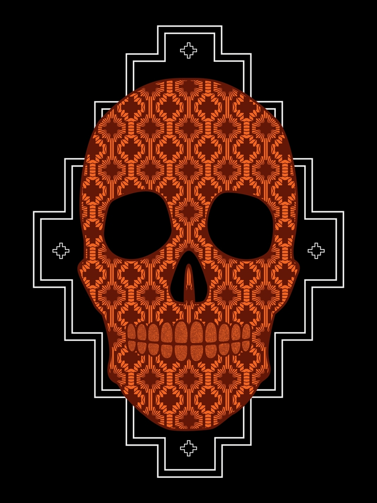 Mapuche Skull - Illustration, Pattern - paxarts | ello