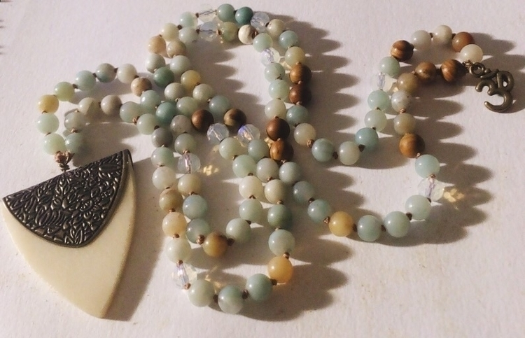 Amazonite, Opal Wood Lace beade - gypsyxjewels | ello
