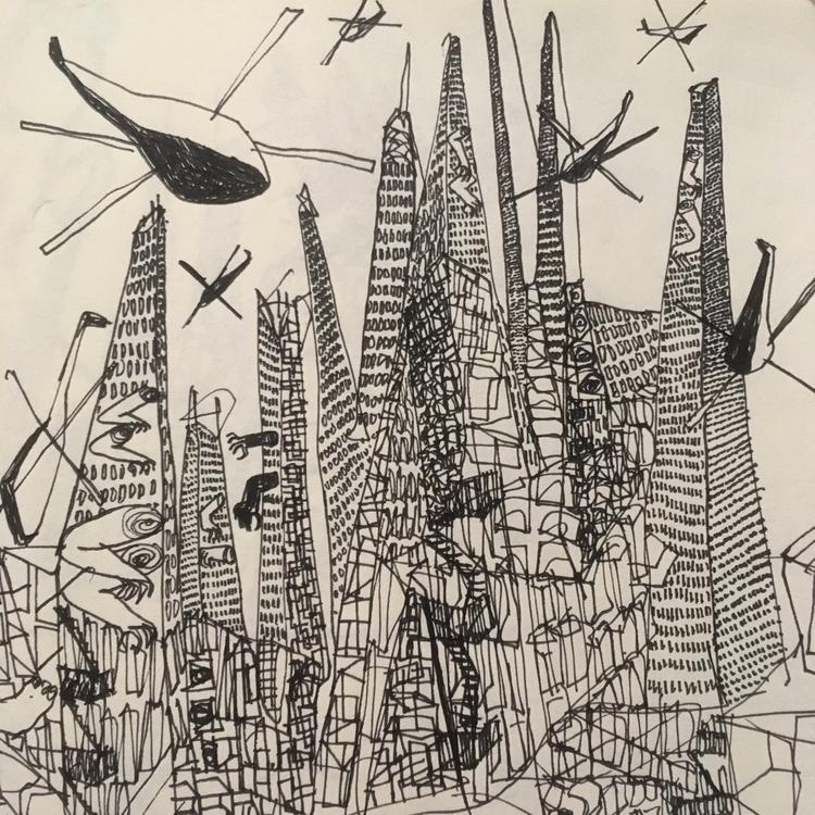 manhattan, ink, drawing - ali_am | ello