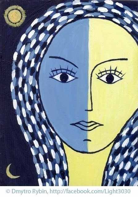 Woman portrait blue yellow colo - dmytroua | ello