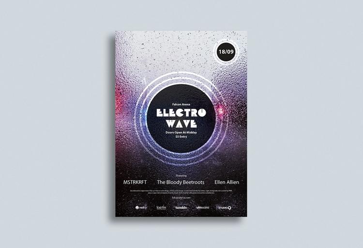 Electro Wave (Concept - design, poster - fxsd | ello