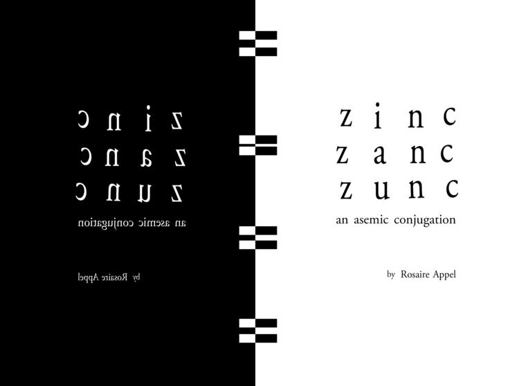 Zinc Zanc Zunc: Asemic Conjugat - asemicwriter | ello