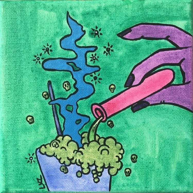 Poison acrylic 6 canvas - popart - lizkellyzook | ello