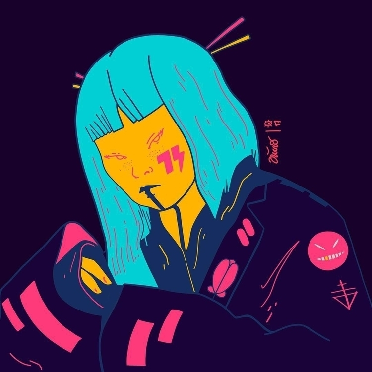 REDsistance - NeonGeisha → - illustration - microbians | ello