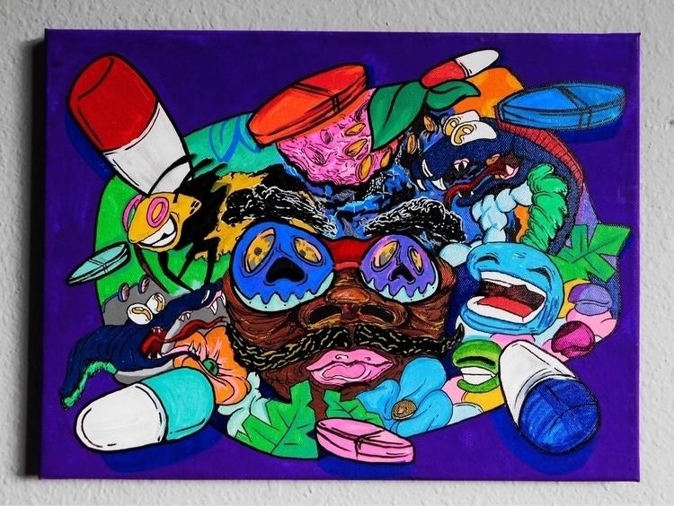 UTOPIA    - artwork, art, canvas - drugquests   ello