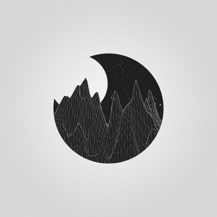 Mountains night - ellominimal, minimalism - studiominimalista | ello