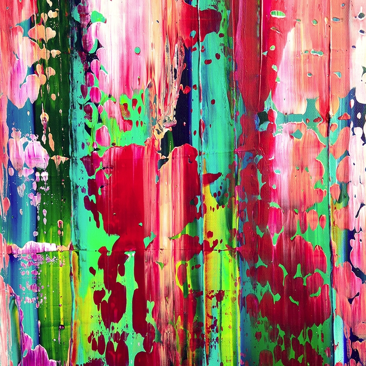 acrylic paint canvas, 50x50 cm - nishe_ink | ello