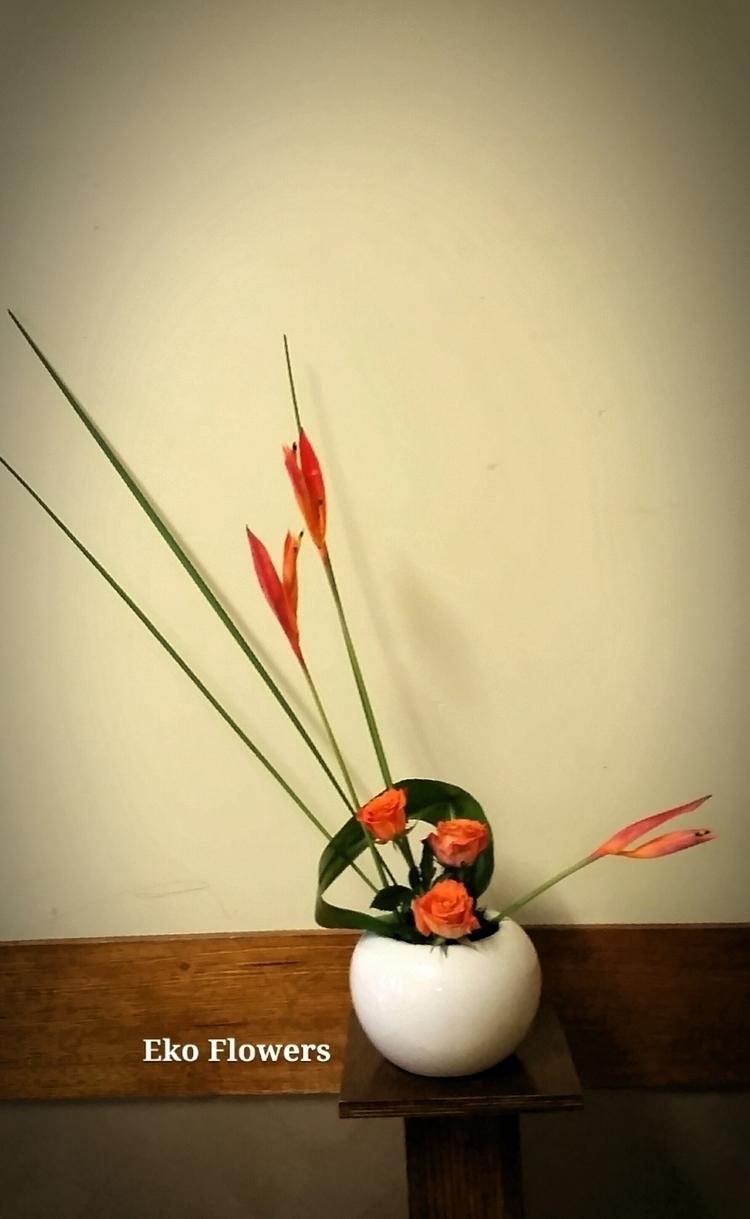 thoughts Ikebana composition - ikebana - ekoflowers | ello